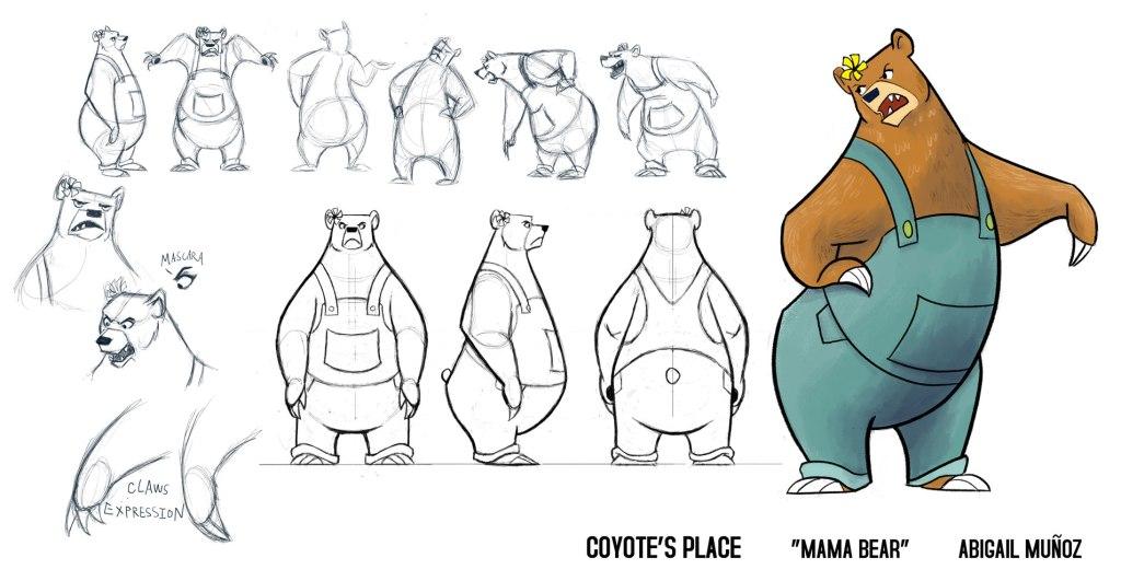 Mama Bear character design